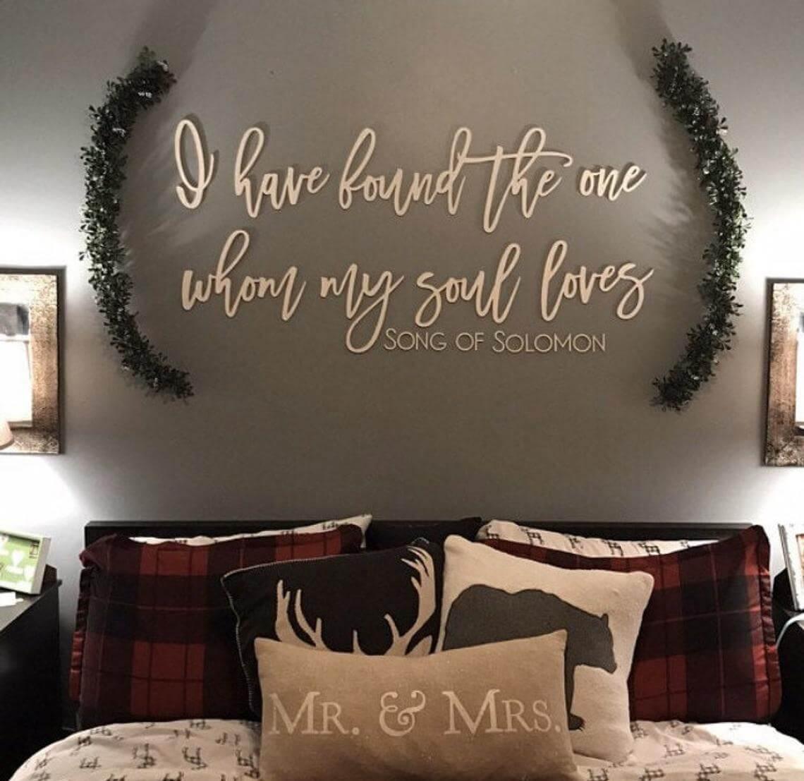 Rustic Cabin Song of Solomon Master Bedroom
