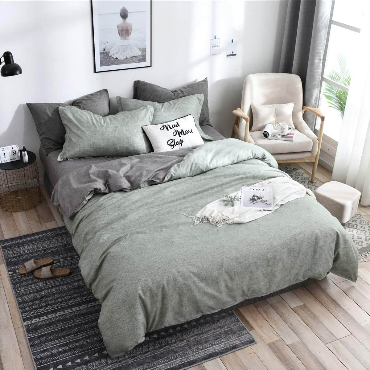 More Sleep in This Grey Green Space