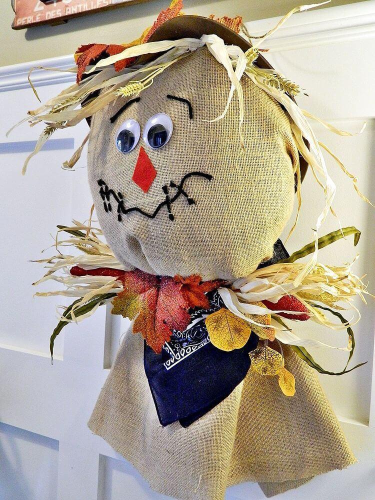 Adorable Child-Friendly Burlap Designed Scarecrow
