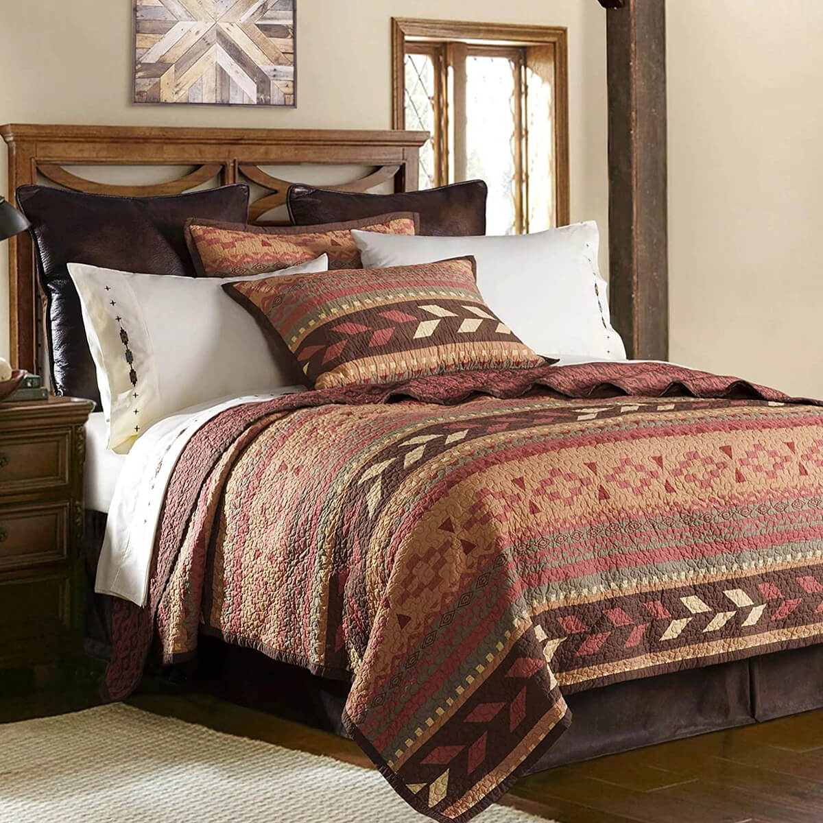 Fall Toned Seasonal Southwest Bedroom Decor