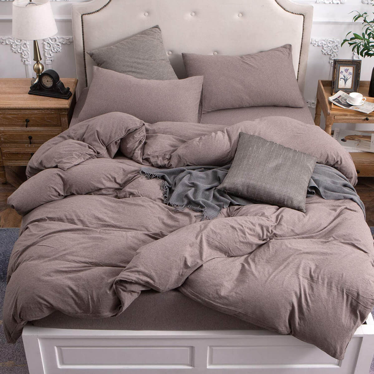 Grey From Head to Toe Bedroom Style