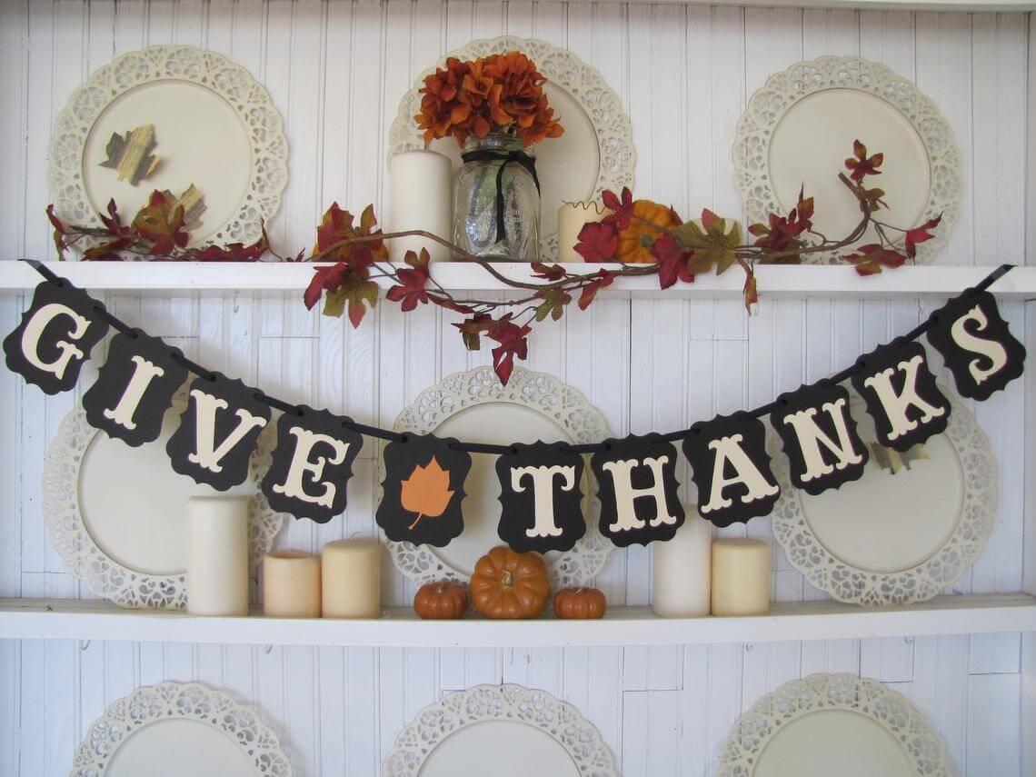 Give Thanks Bold and Beautiful Fall Garland