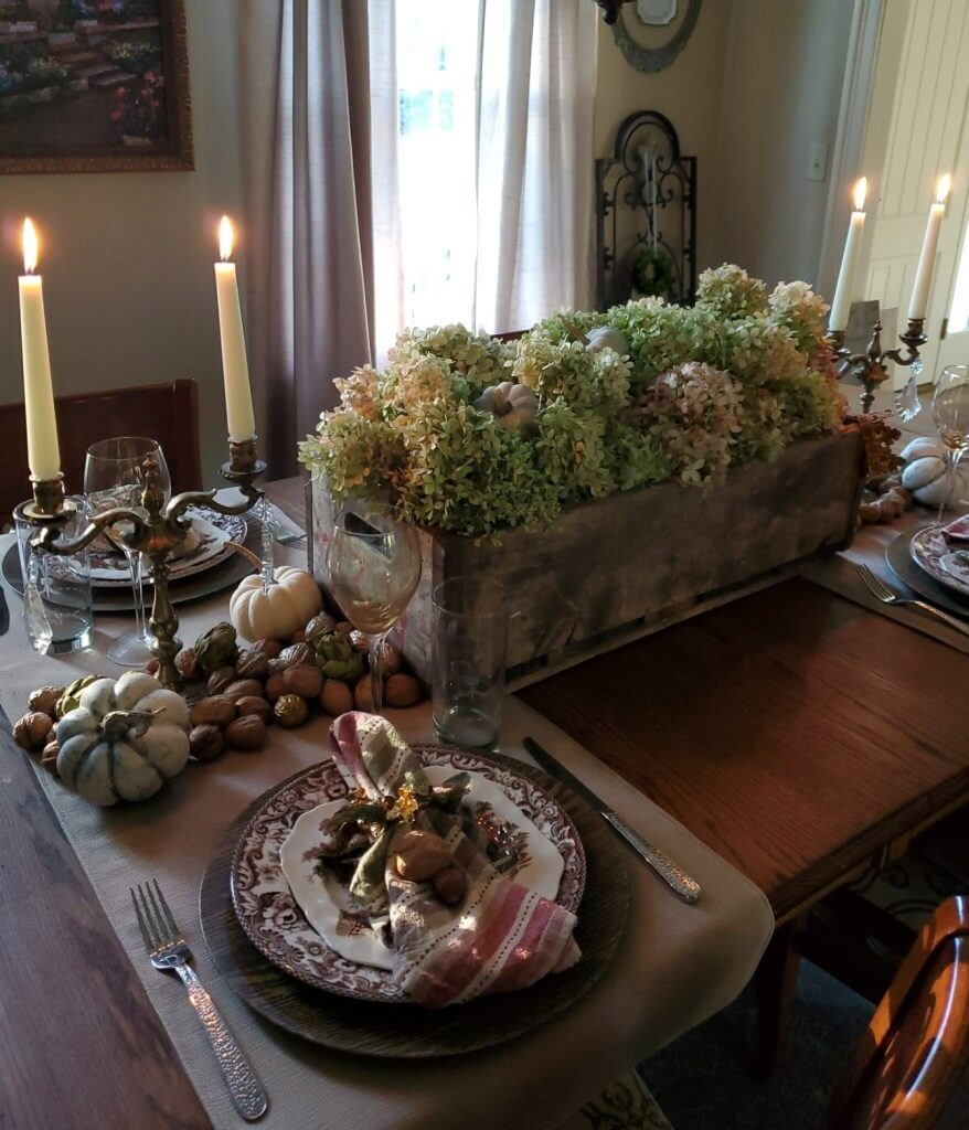 Overflowing with Blessings Bountiful Crate Centerpiece