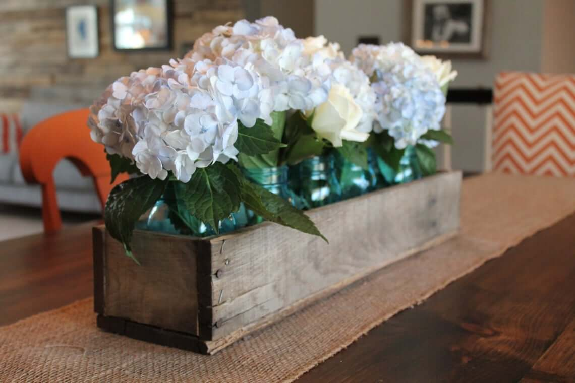 Nailed It Wooden Floral Centerpiece Box