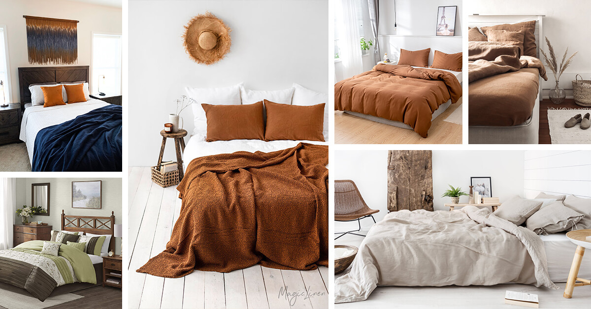 29 Best Earth Tone Colors For Bedroom, Earth Tone Bedding Collections
