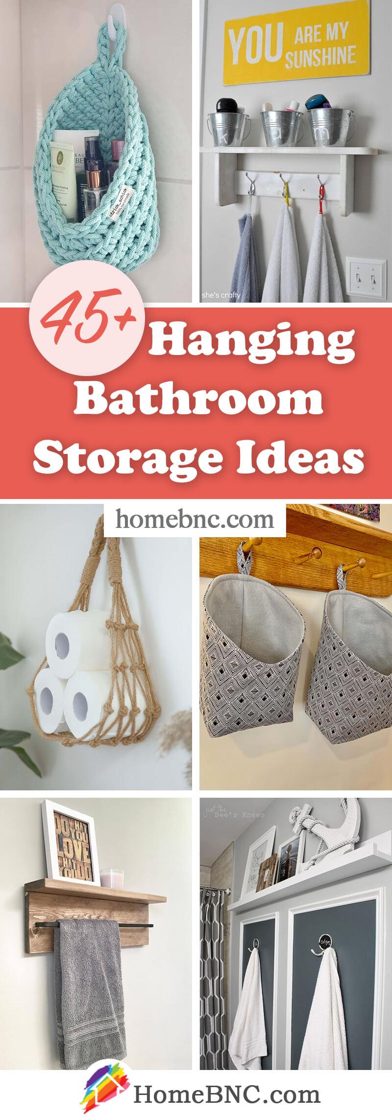 Hanging Bathroom Storage Ideas