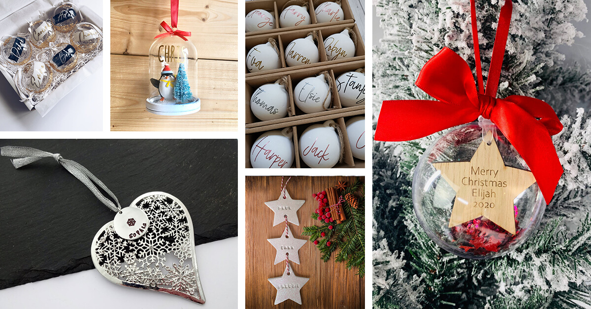 Welcome To Christmas At Wooden Heart Personalised Christmas Bauble Decoration