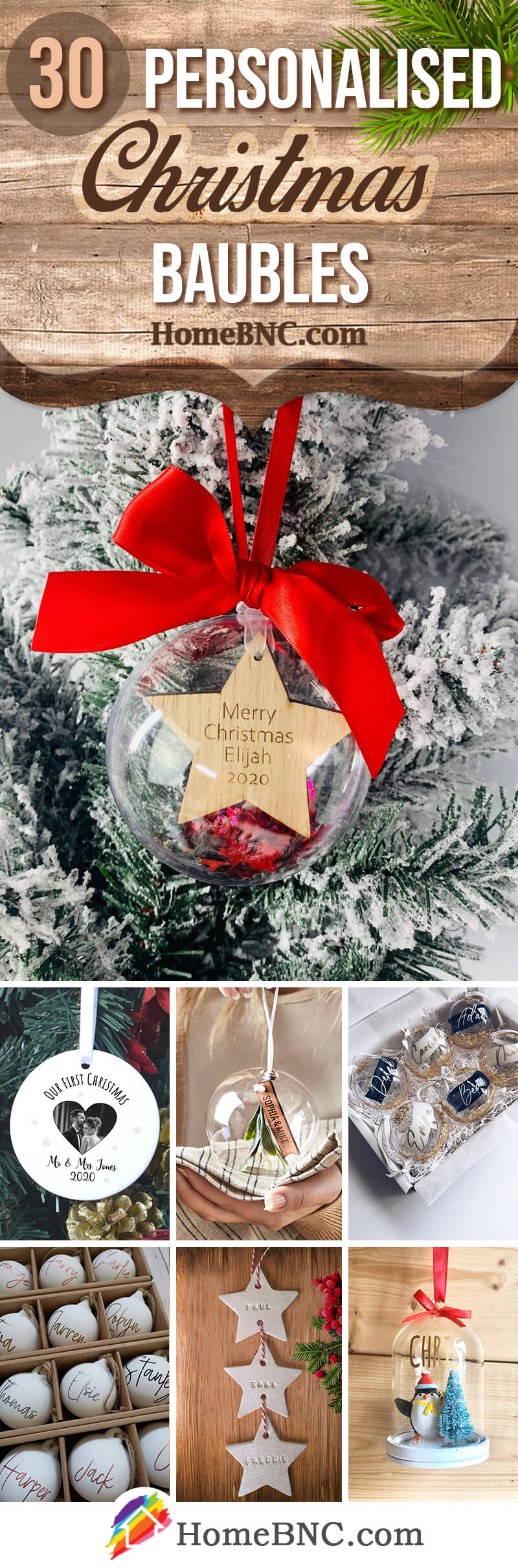 Best Personalised Christmas Baubles