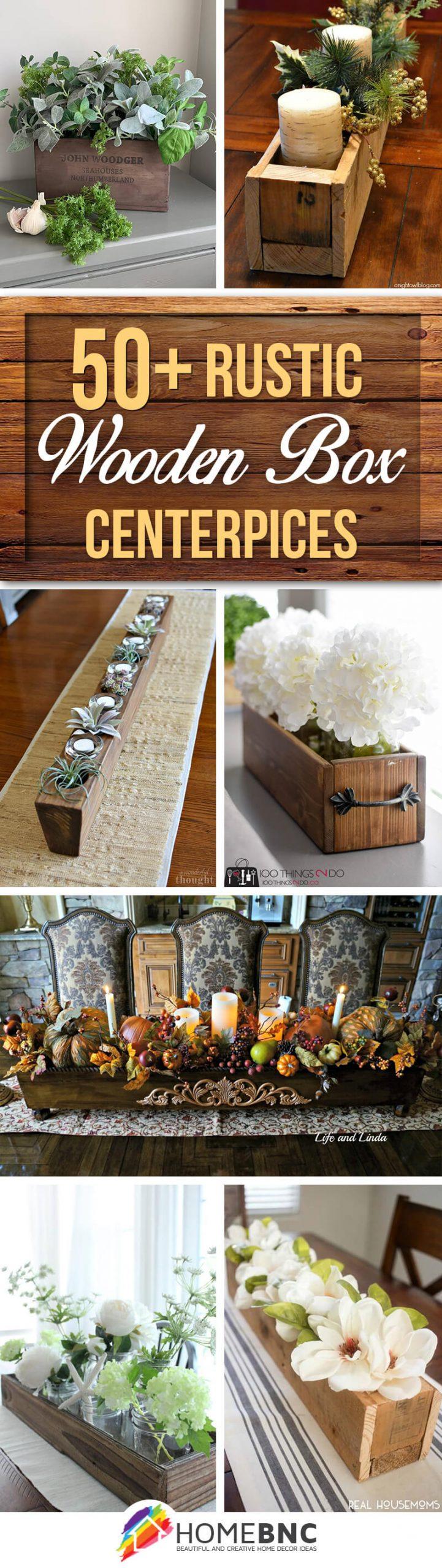 Rustic Wooden Box Centerpiece Ideas
