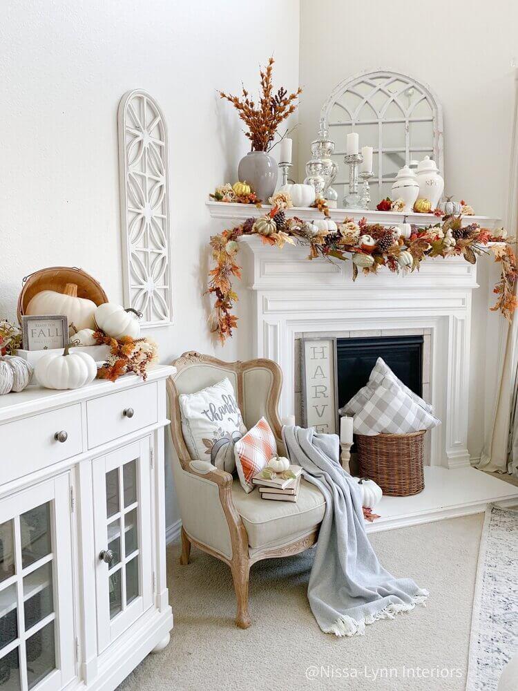 Rustic Glam Cozy Corner Fireplace