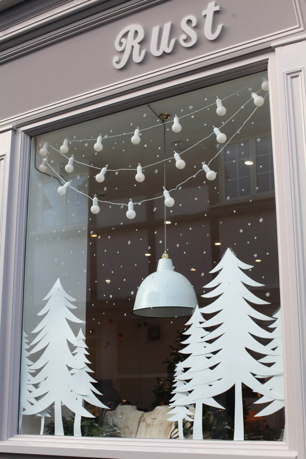 All White Winter Window Wonderland