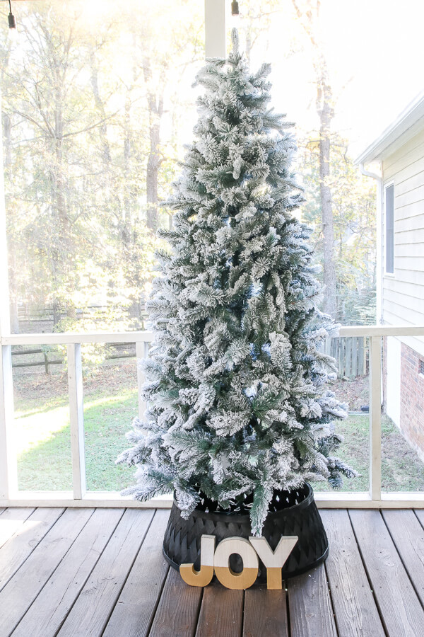 Fabulous and Festive Flocked Fir Artificial Tree