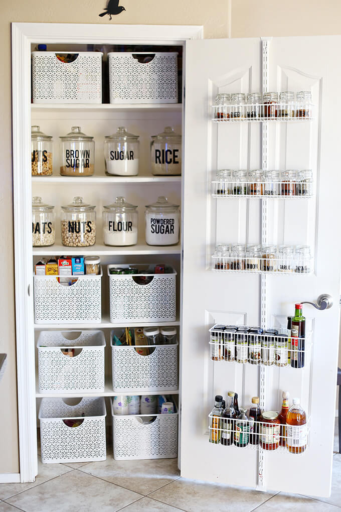 Easy Small Kitchen Pantry Makeover