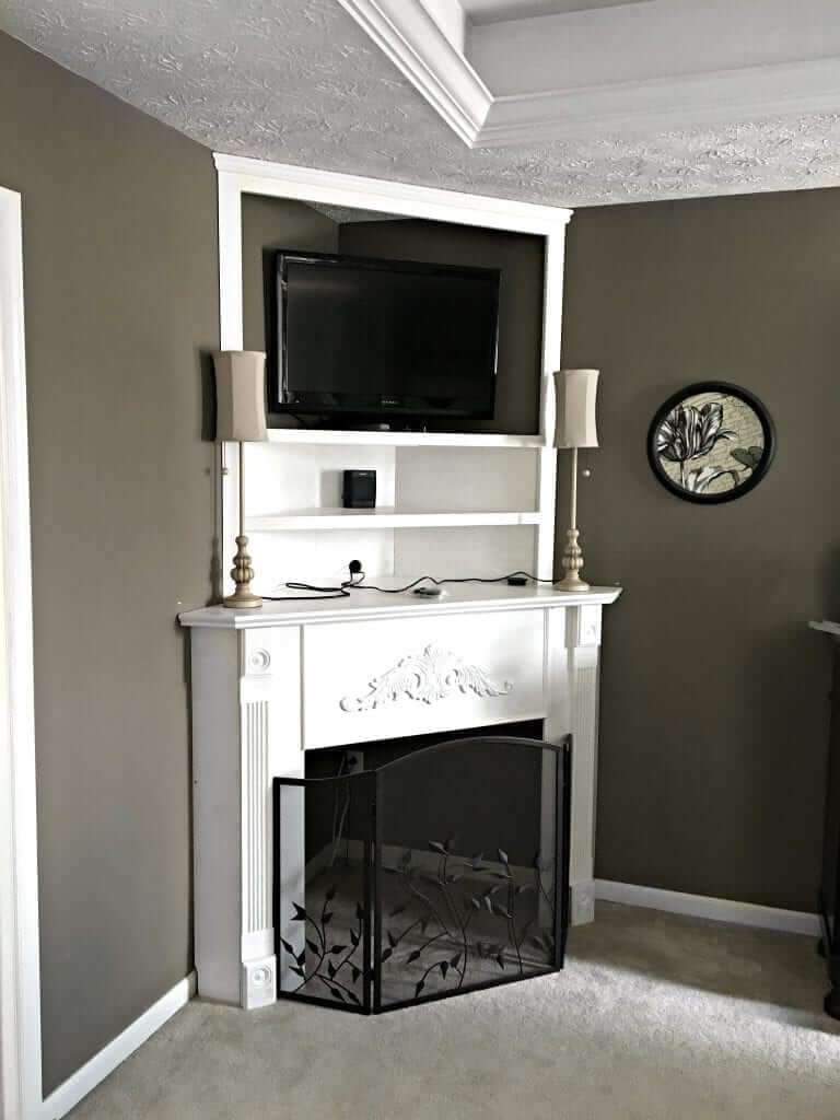 Creating a Tall DIY Corner Fireplace for the Master Bedroom
