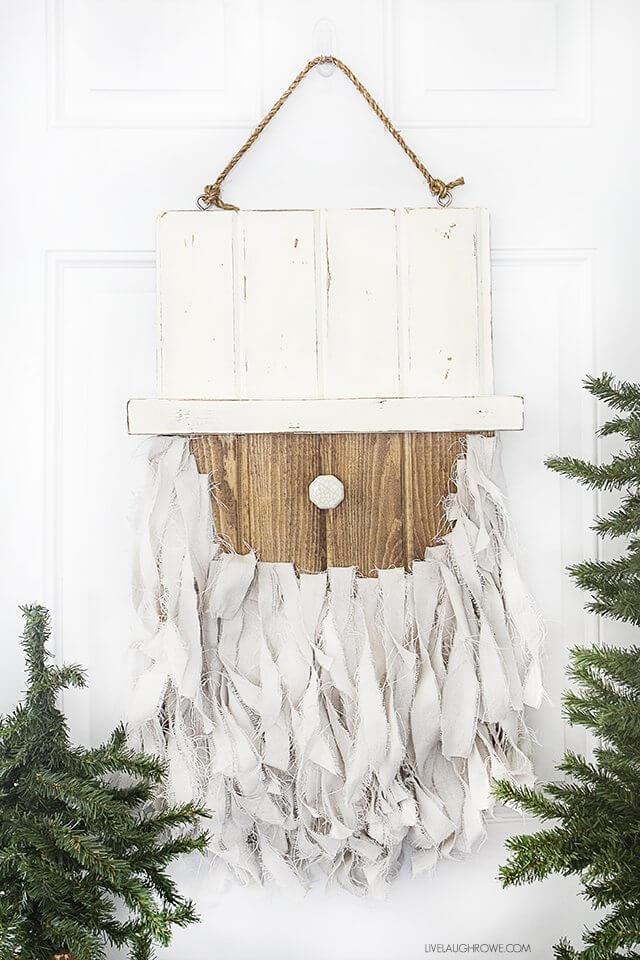 Crafty Clause Shabby Chic Farmhouse Santa Head