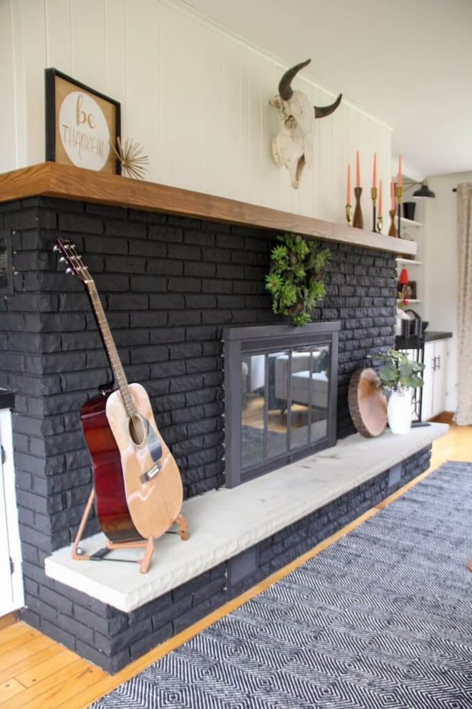 Paint it Black for a Modern Fireplace