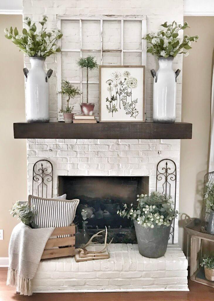Farmhouse Home Decor and Fireplace Renovation
