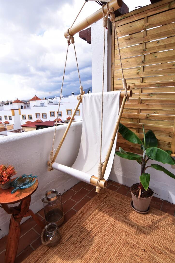 Indulge in this Personal Bamboo Hammock Swing