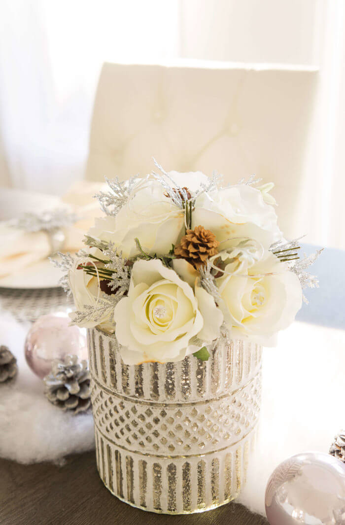 Silver Sprigs and Pinecone Winter Wedding