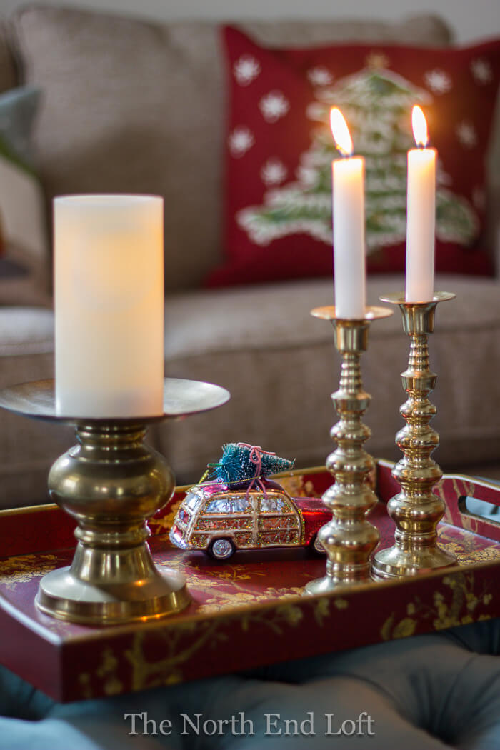 Curated Christmas Collection with Candles and Ornaments