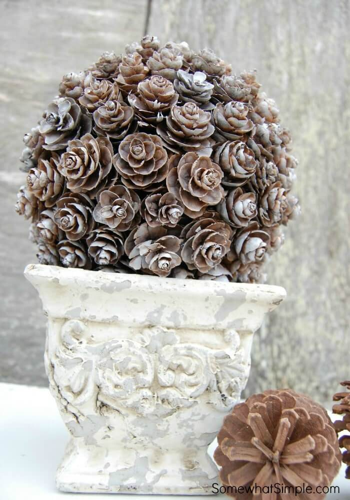 Gorgeous Potted Pinecone Topiary Arrangement