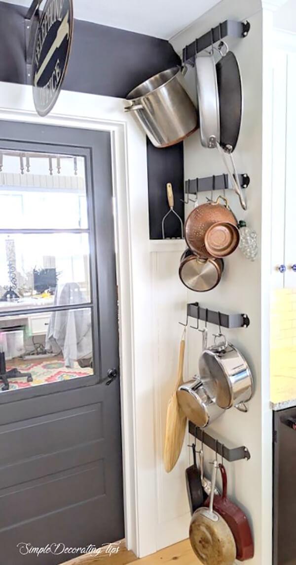 Wall Mounted Hanging Pot Rack