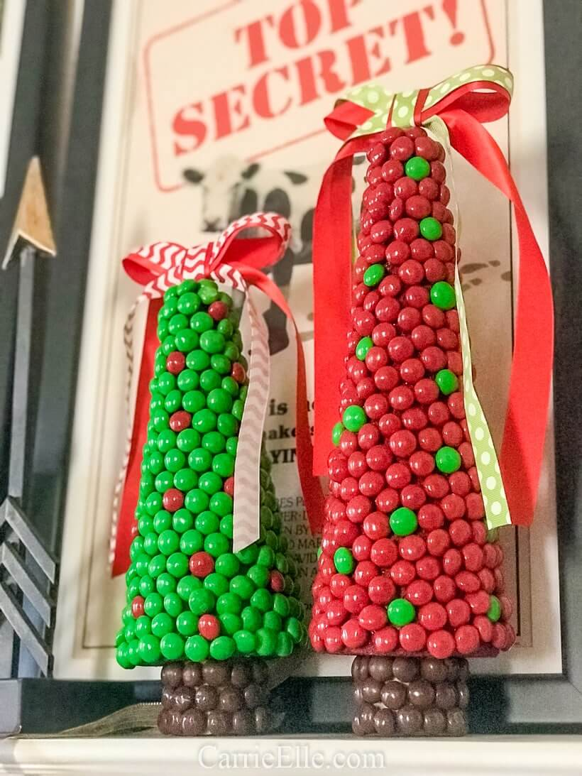 M&M Coated Christmas Tree Decorations