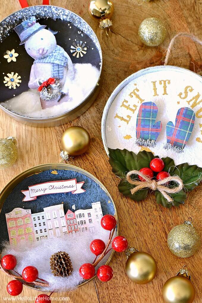 Creative Homemade Tin Christmas Tree Ornaments
