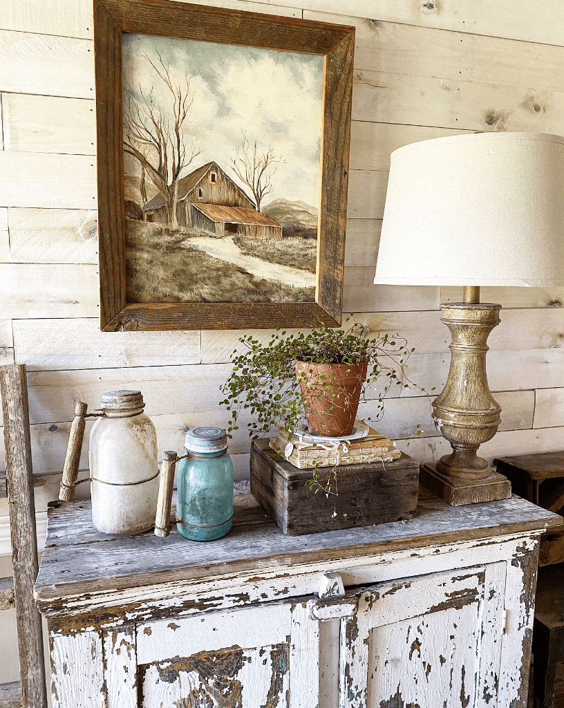 Worn and Weathered Rustic Farmhouse Decor