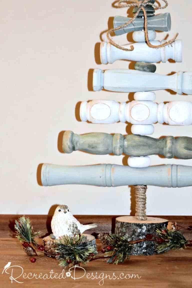 Simple Vintage Spindle Christmas Tree
