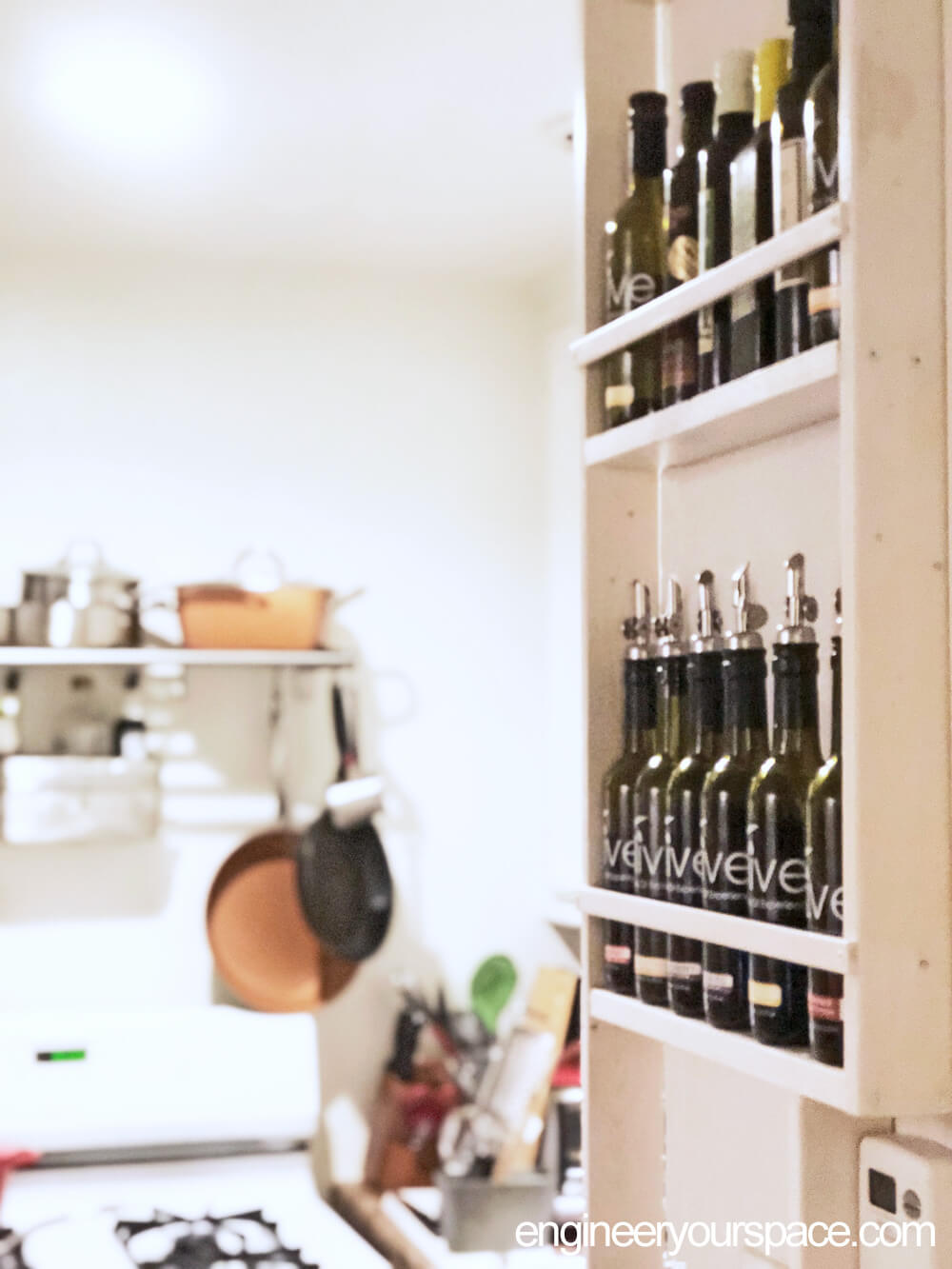 Vertical Oil Bottle Shelf Rack
