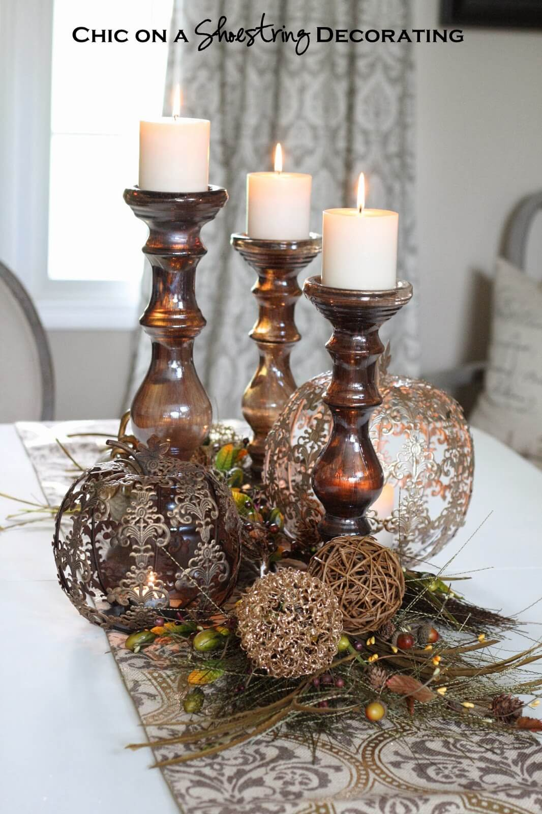 Old World Rustic Glam Centerpiece