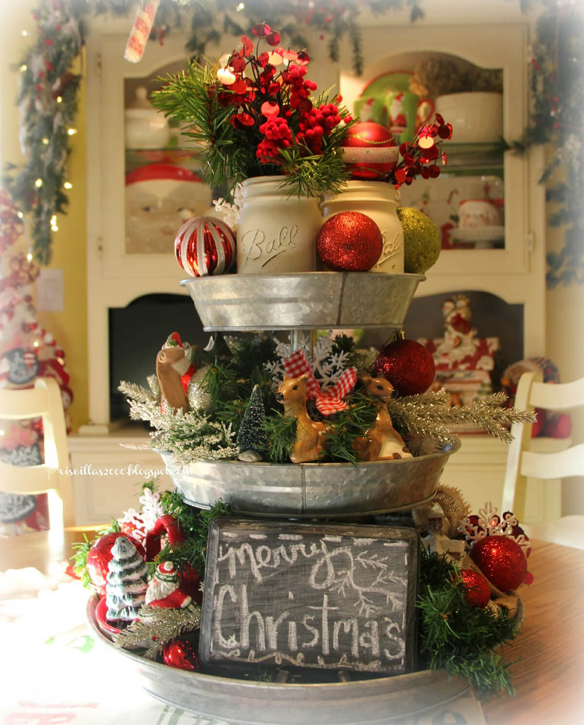 Tiered Tray Curated Christmas Display