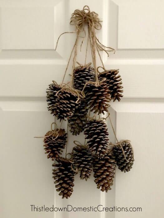 Door Hanging Pinecone Decorative Arrangement