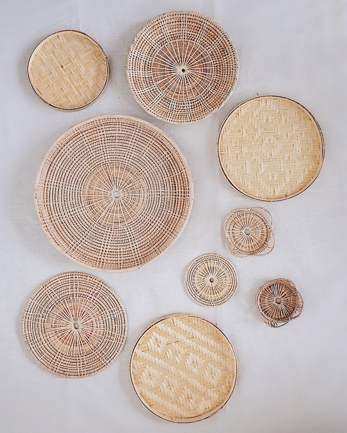 Bamboo Serving Trays and Platters Wall Art