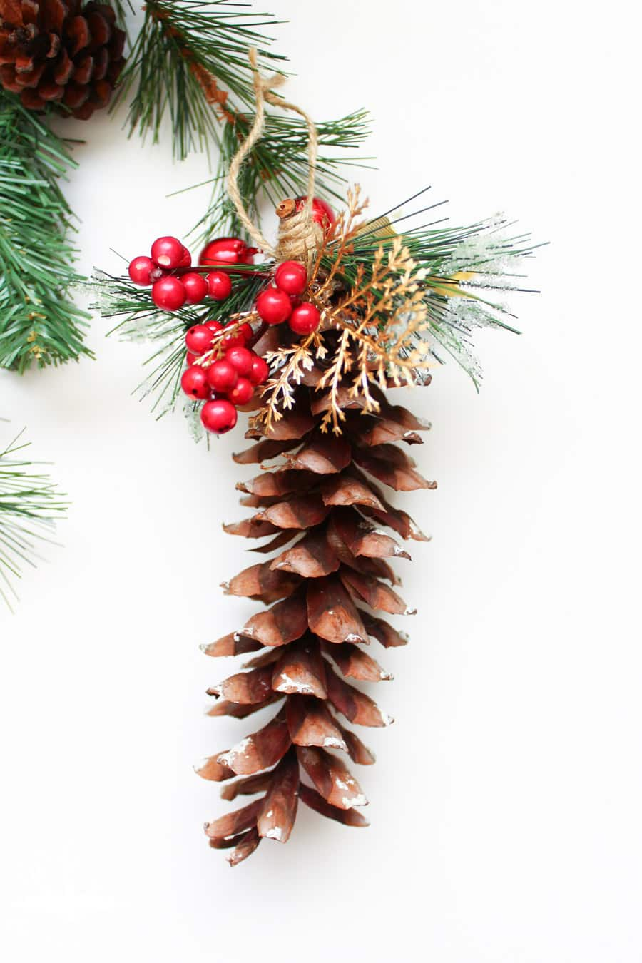 Joyful Pinecone Christmas Tree Ornaments