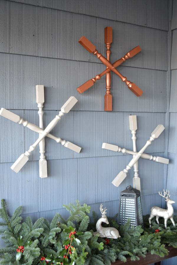 Creatively Crafty Spindle Snowflakes Winter Decor