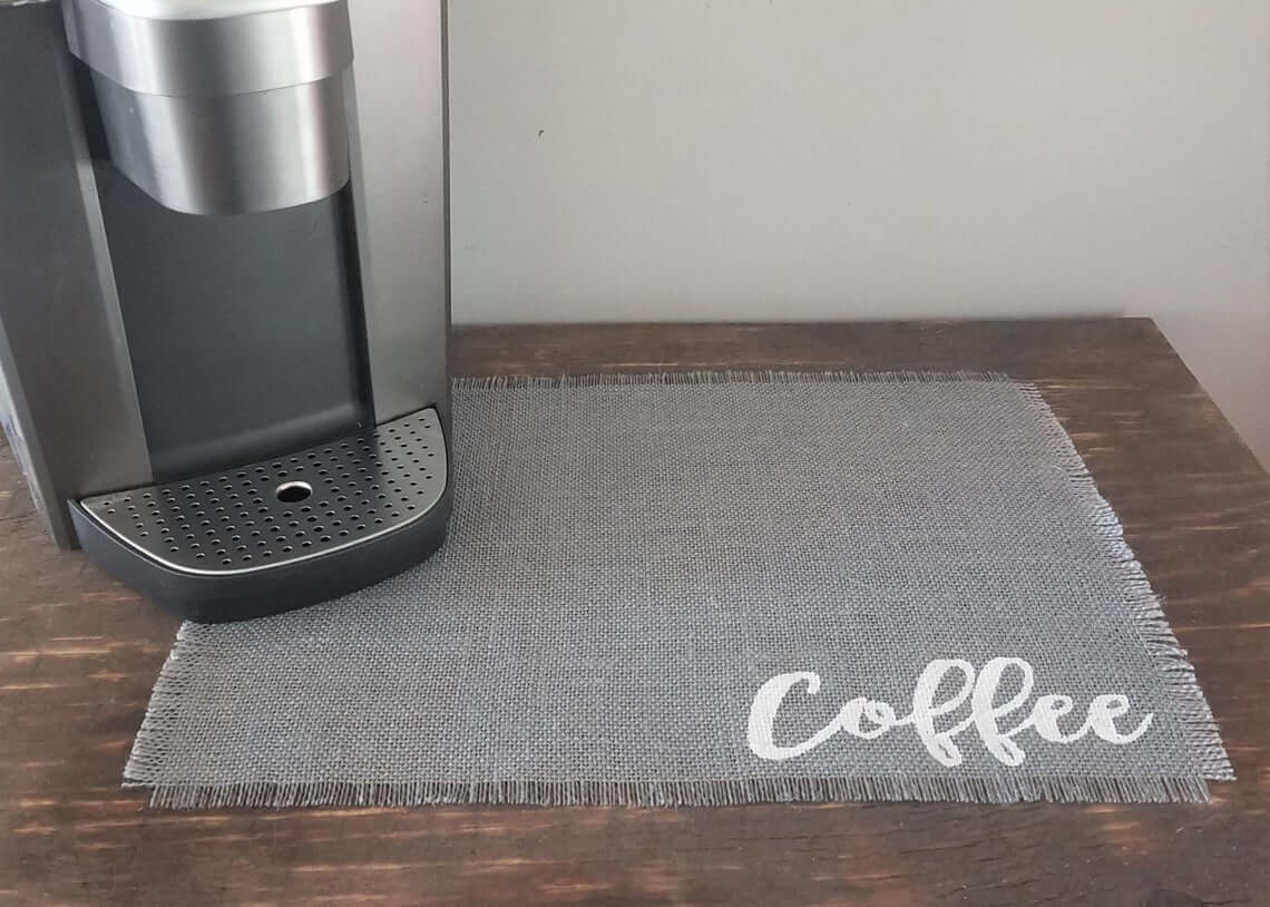 Coffee Mat that Tells It Like It Is