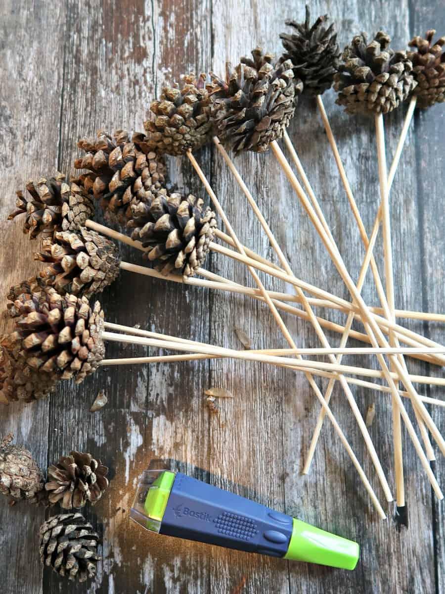 Pinecone Picks for Floral Arrangements