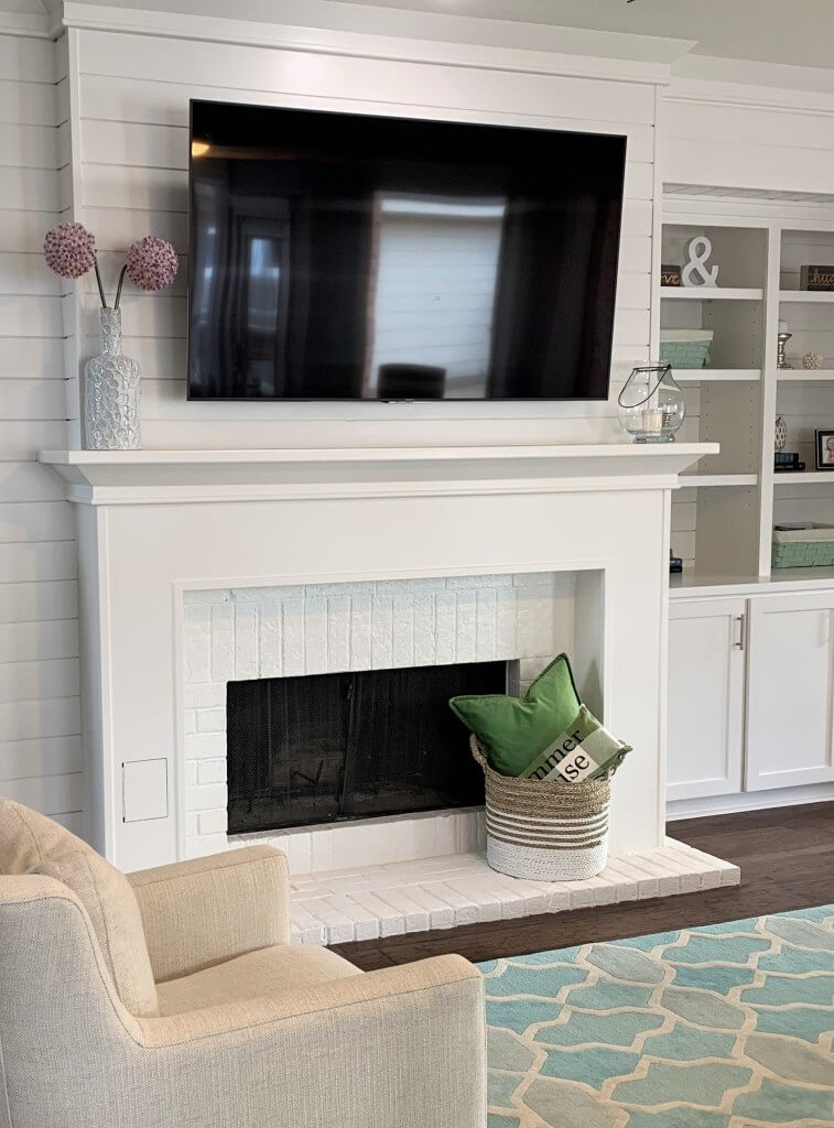 Preppy Casual Shiplap Fireplace Makeover