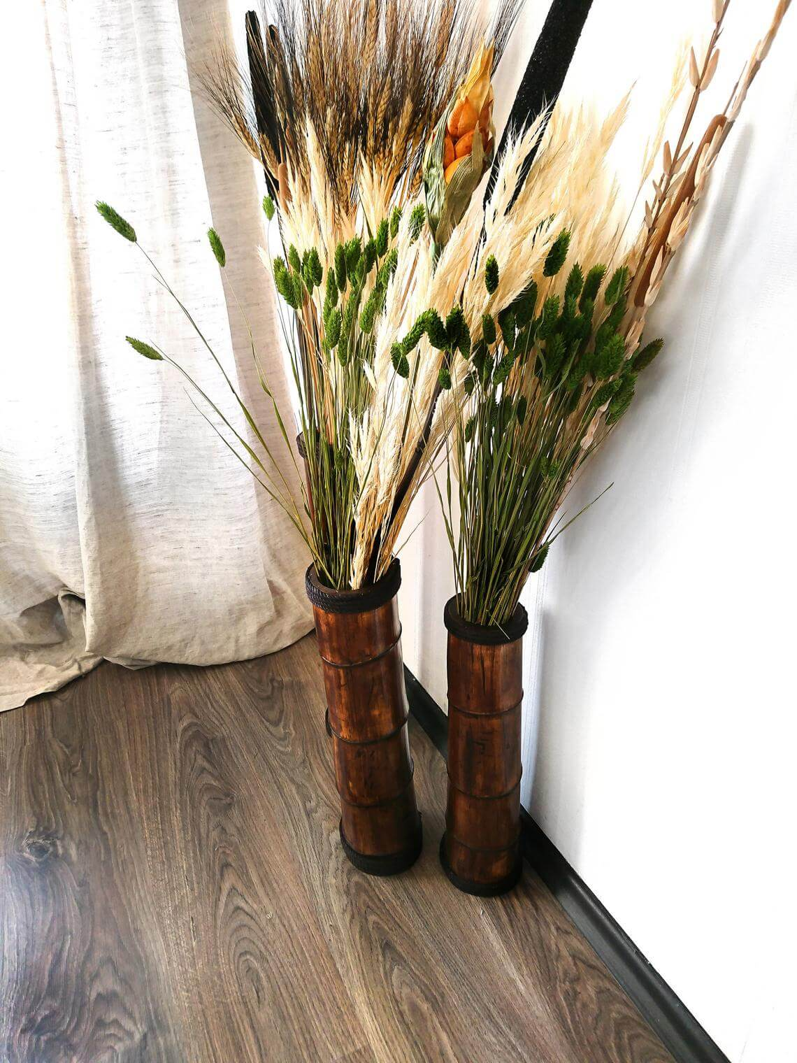 Freestanding and Beautiful Bamboo Floor Vases