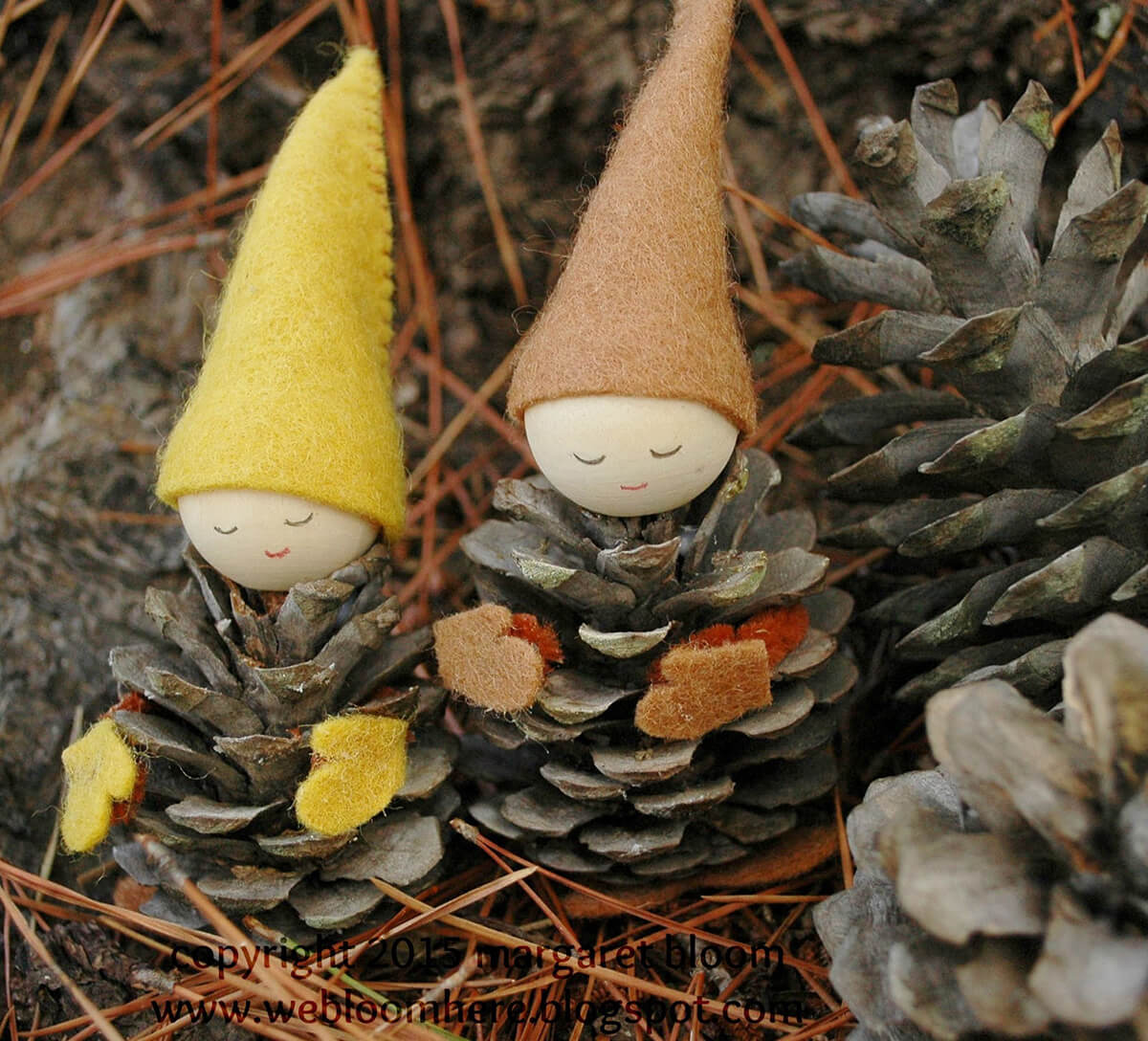 Adorable Crafted Sleepy Pinecone Gnomes