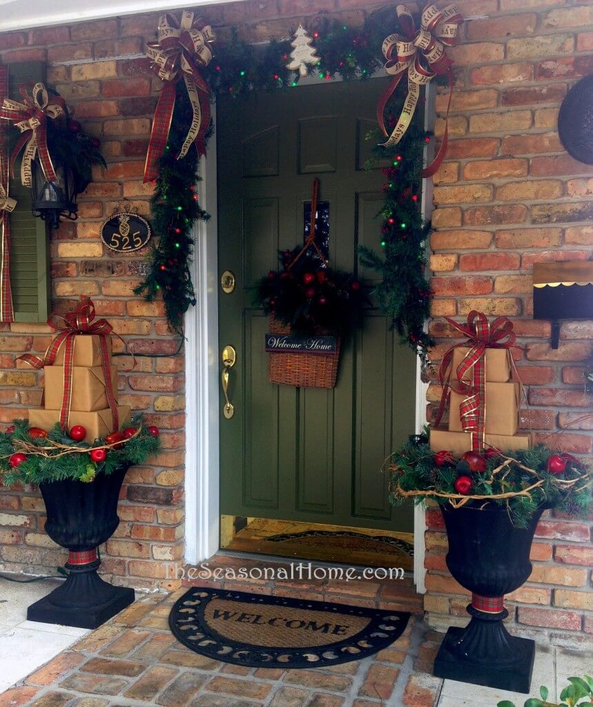 Embellished Welcoming North Pole Porch