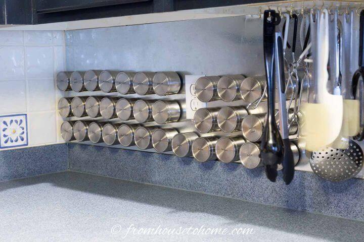 Steel Wall Magnetic Spice Rack
