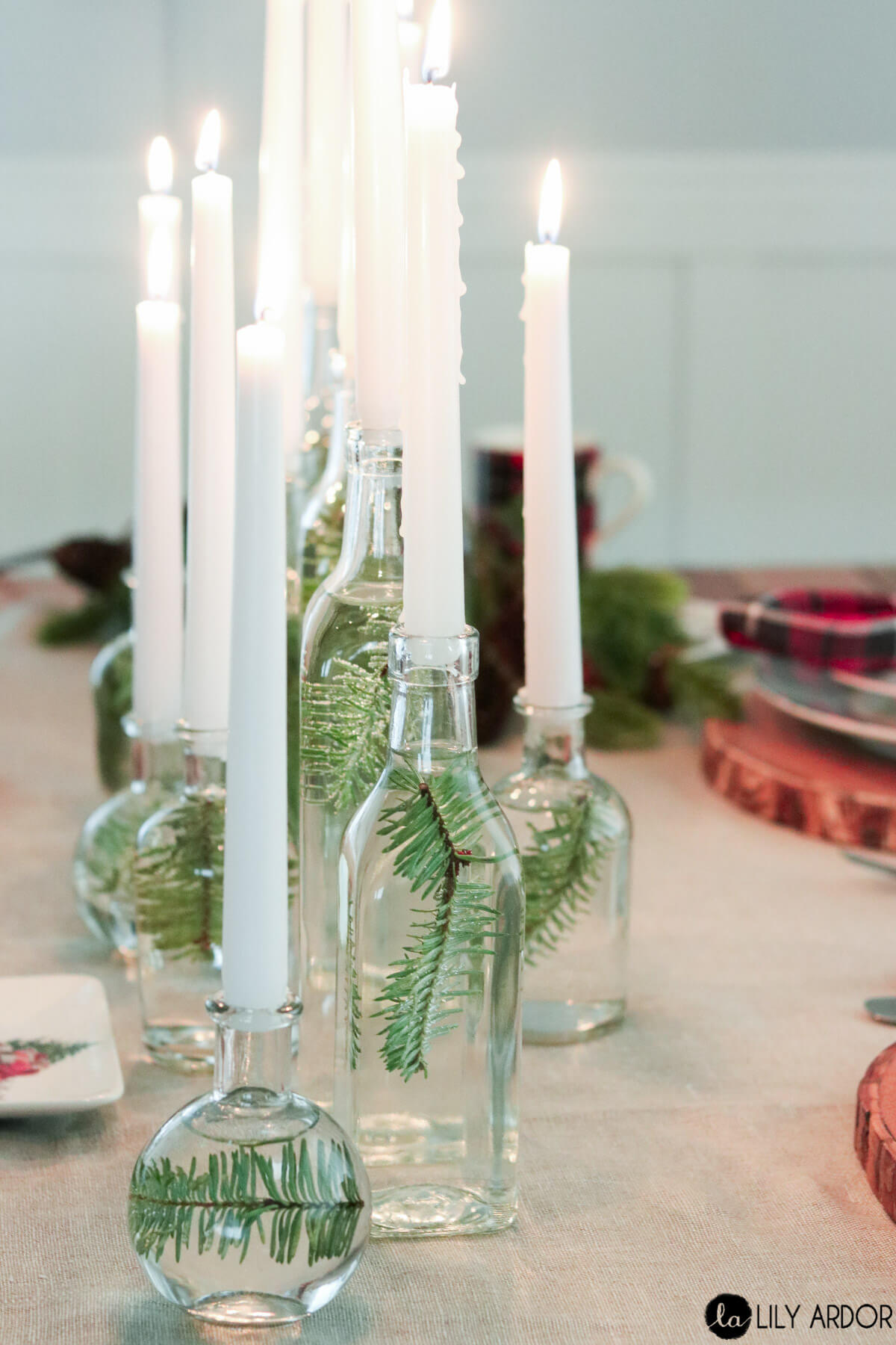 Elegant Clean and Simple Winter White Candles