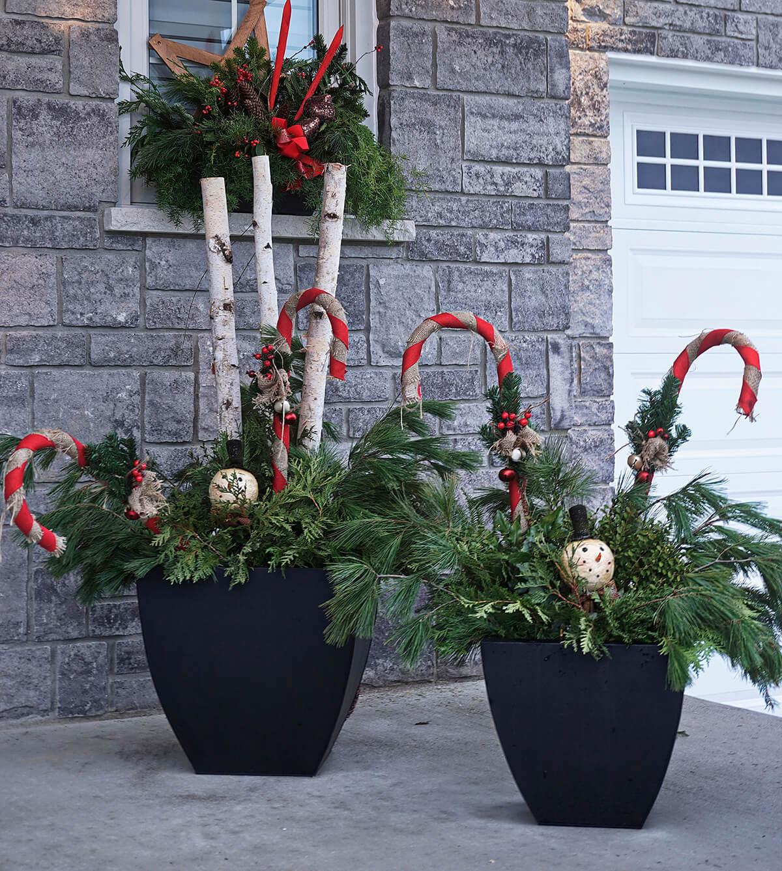Classic Decorative Greenery Christmas Urns