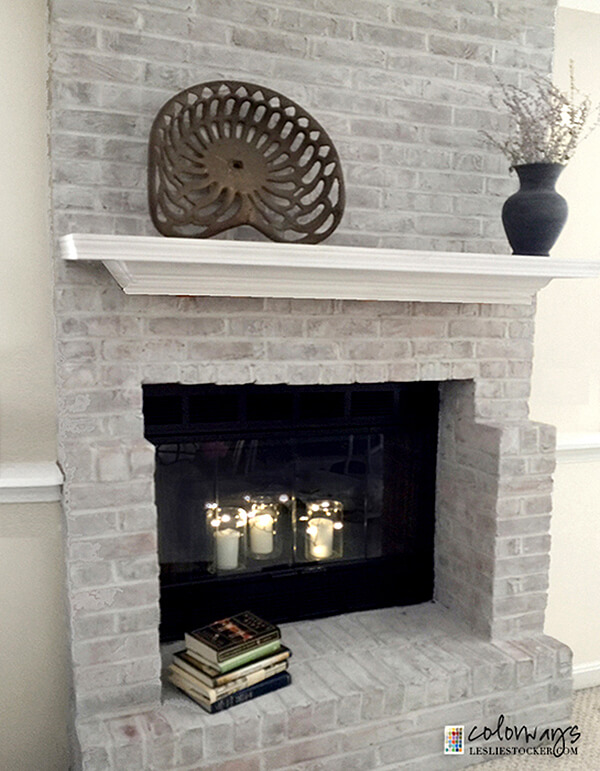 Traditional Meets Modern in this White Fireplace
