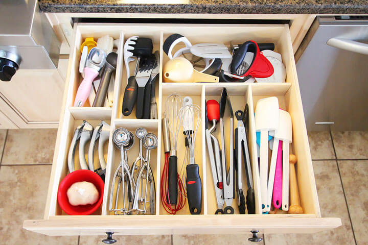 Custom Wooden Drawer Storage Divider