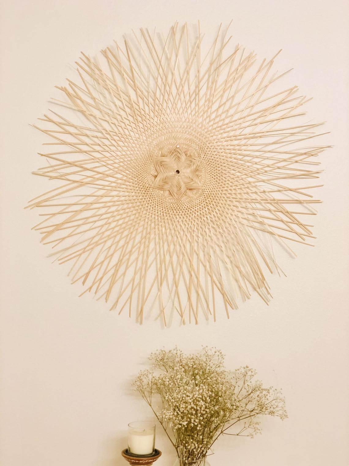 Spectacular Sunburst from Woven Bamboo