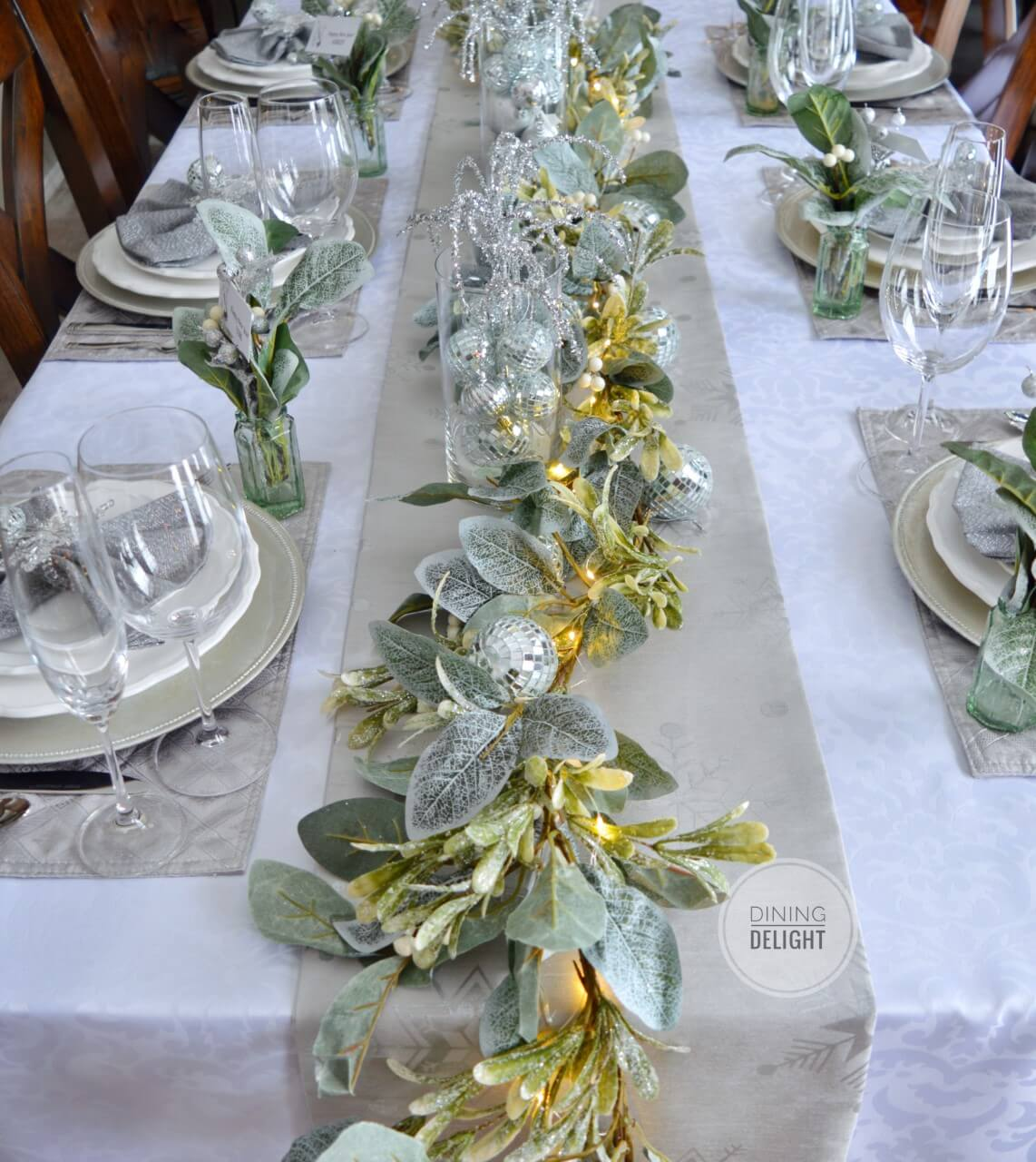 Gorgeous and Glamourous Lighted Winter Table Celebration